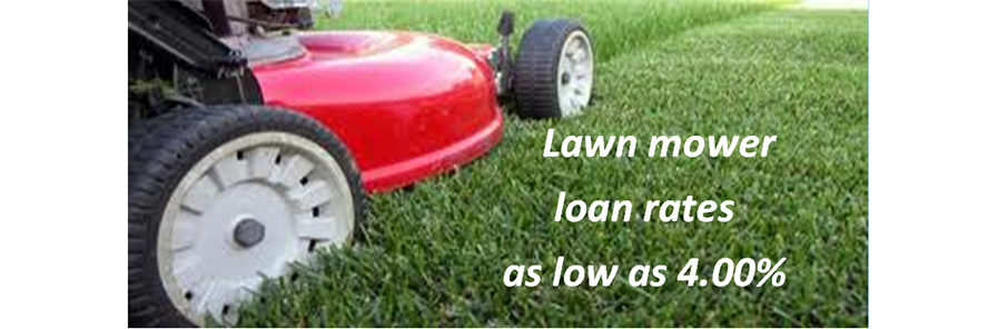 mower loans as low at 4 percent